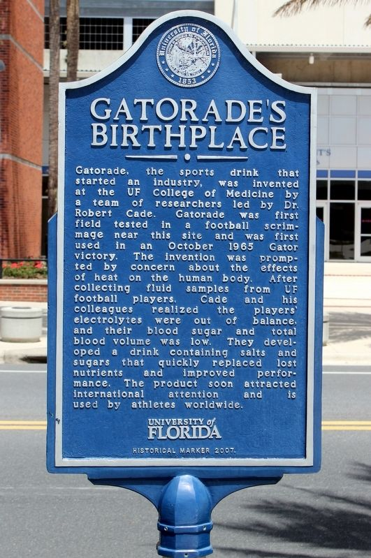 Gatorade's Birthplace Marker image. Click for full size.