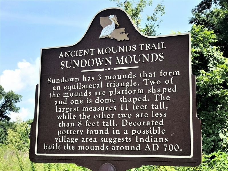 Sundown Mounds Marker image. Click for full size.