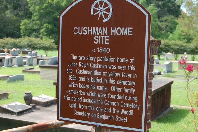 Cushman Home Site Marker image. Click for full size.
