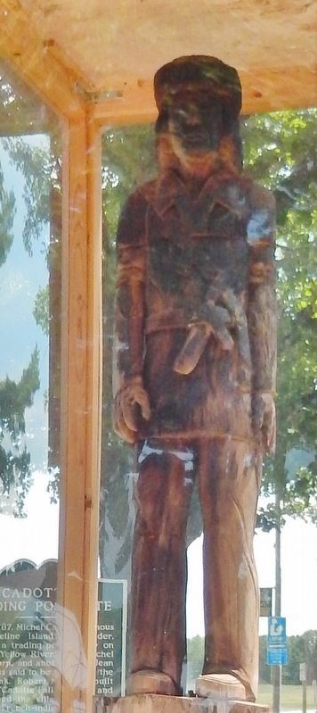 Cadotte Fur Trader Statue image. Click for full size.