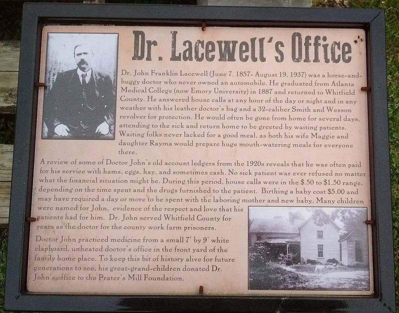Dr. Lacewell's Office Marker image. Click for full size.