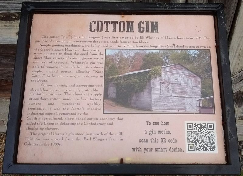 Cotton Gin Marker image. Click for full size.