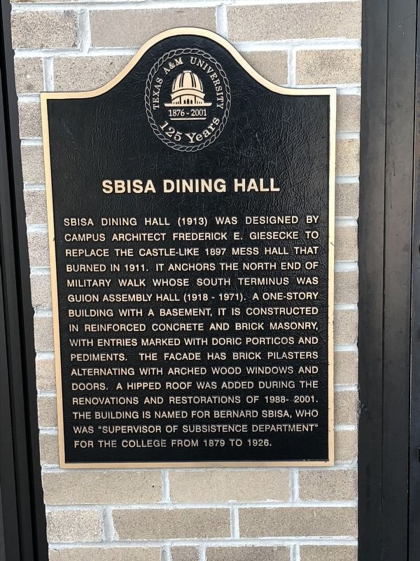 Sbisa Dining Hall Marker image. Click for full size.