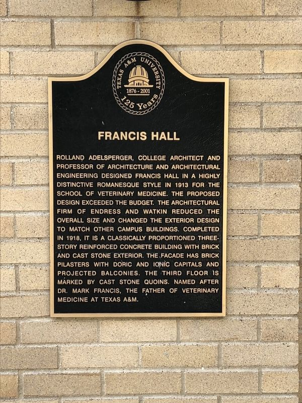 Francis Hall Marker image. Click for full size.