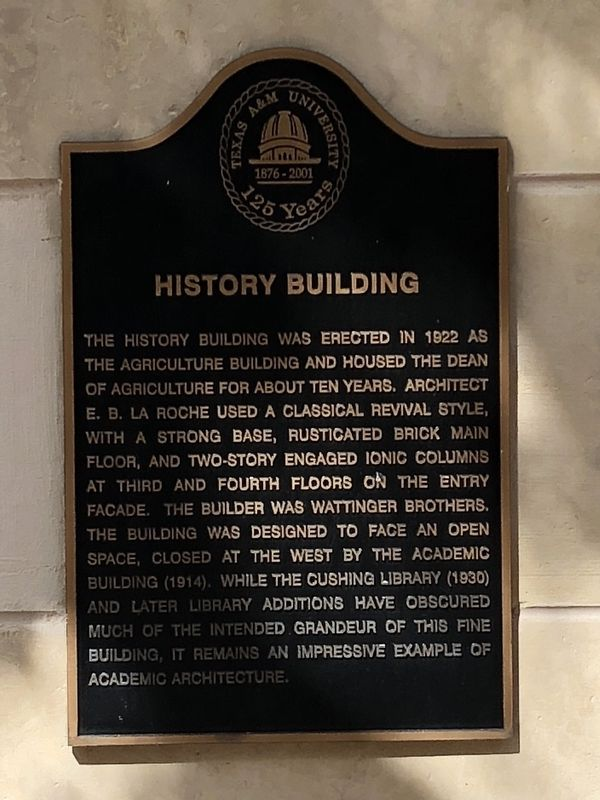 History Building Marker image. Click for full size.