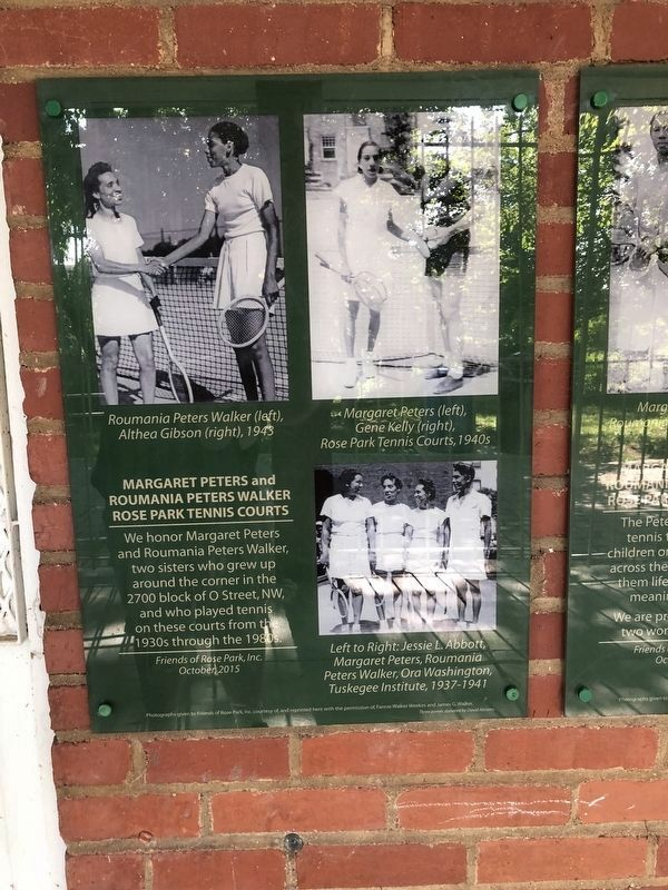 Photos of the Peters sisters on the grounds of Rose Park image. Click for full size.