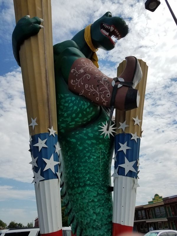 BIG TEX-REX with cowboy boots! image. Click for full size.