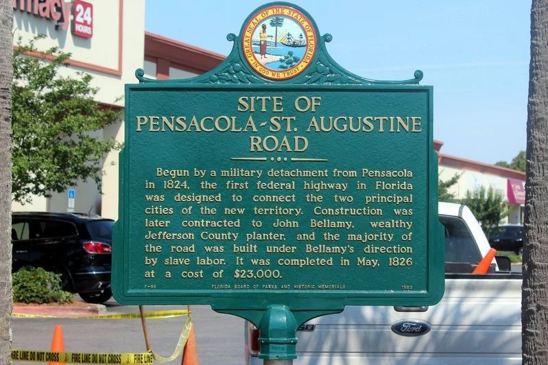 Site of Pensacola - St. Augustine Road Marker image. Click for full size.