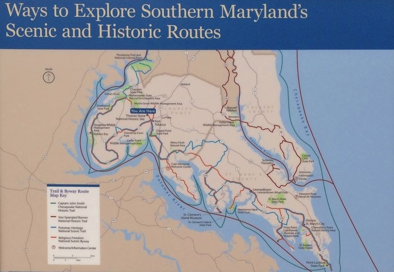 Ways to Explore Southern Maryland's Scenic and Historic Routes Marker image. Click for full size.