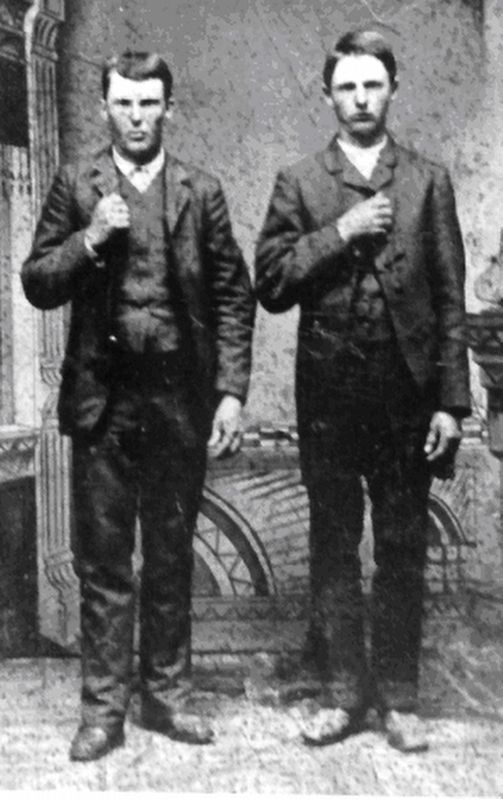 Jesse and Frank James image. Click for full size.