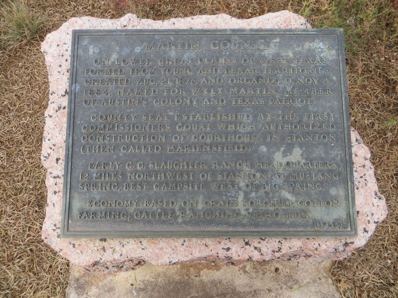 Martin County Marker image. Click for full size.