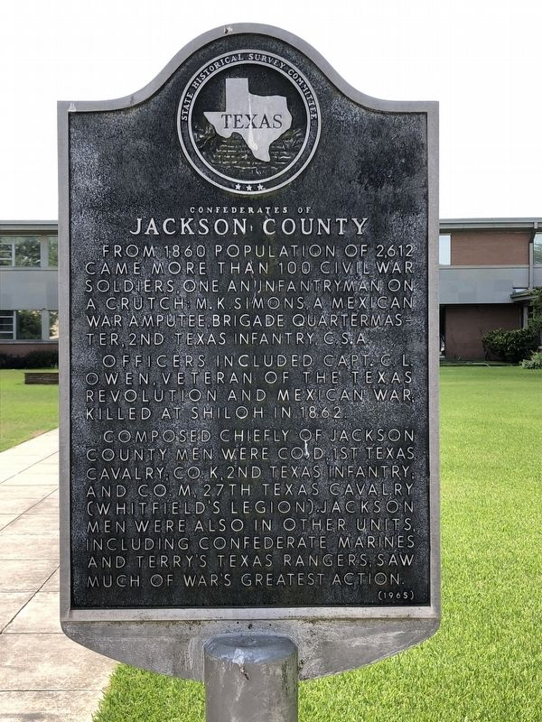 Confederates of Jackson County Marker image. Click for full size.