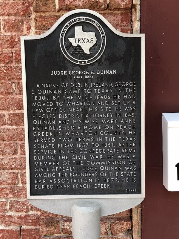 Judge George E. Quinan Marker image. Click for full size.