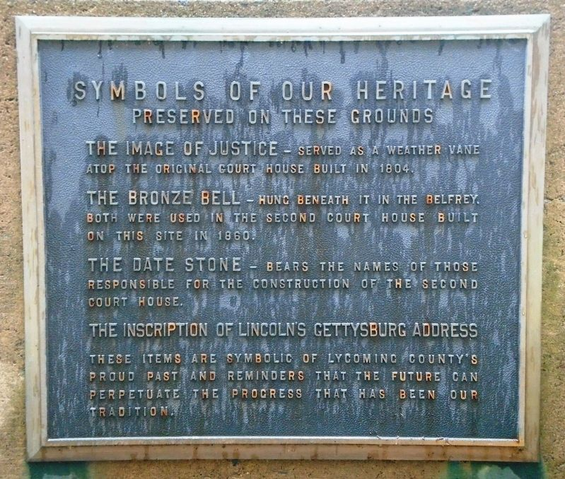 Symbols Of Our Heritage Marker image. Click for full size.