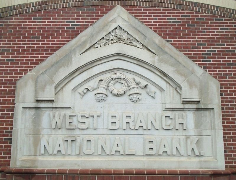 Architectural Artifacts - West Branch National Bank Remnant image. Click for full size.