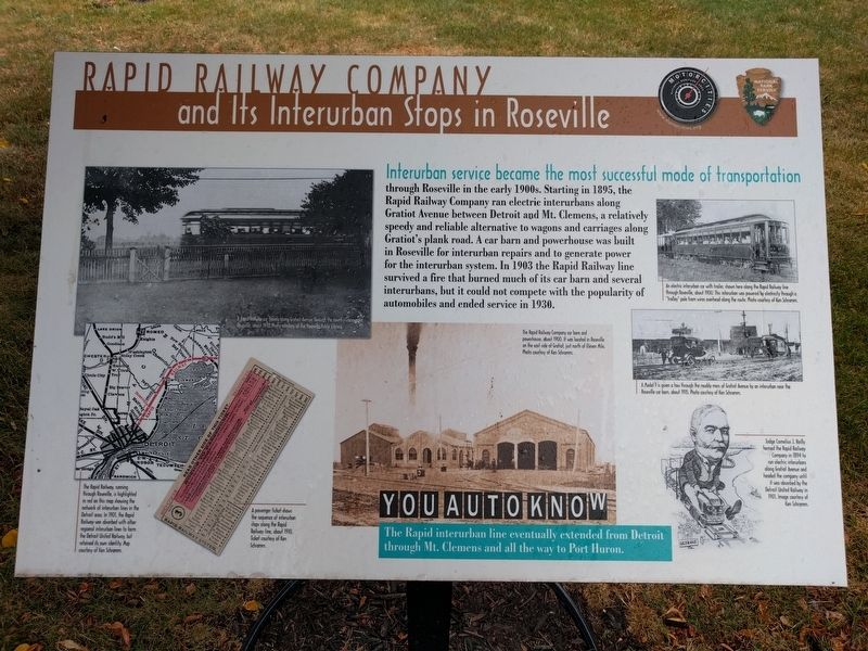 Rapid Railway Company Marker image. Click for full size.