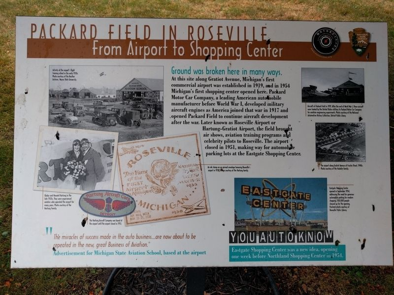 Packard Field in Roseville Marker image. Click for full size.