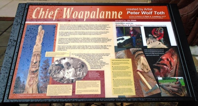 Chief Woapalanne Marker image. Click for full size.