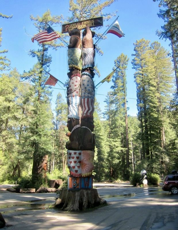 The Worlds Tallest Freestanding Redwood Chainsaw Carving! image. Click for full size.