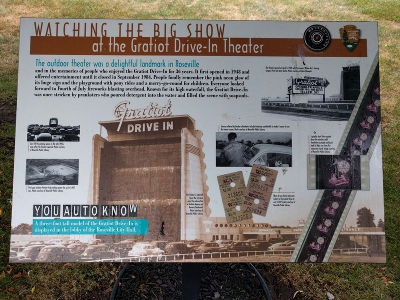Watching the Big Show Marker image. Click for full size.