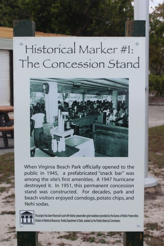 Historical Marker #1: The Concession Stand Marker image. Click for full size.