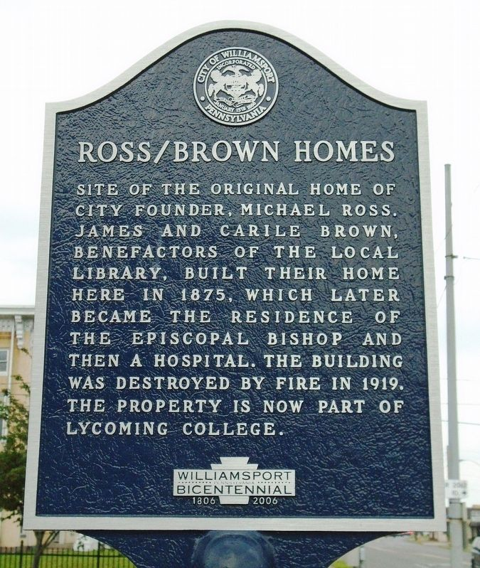 Ross/Brown Homes Marker image. Click for full size.