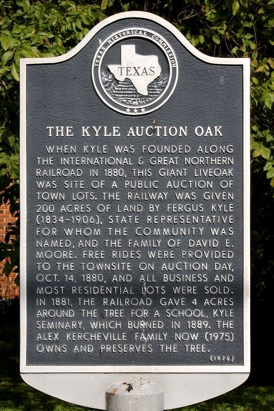 The Kyle Auction Oak Marker image. Click for full size.