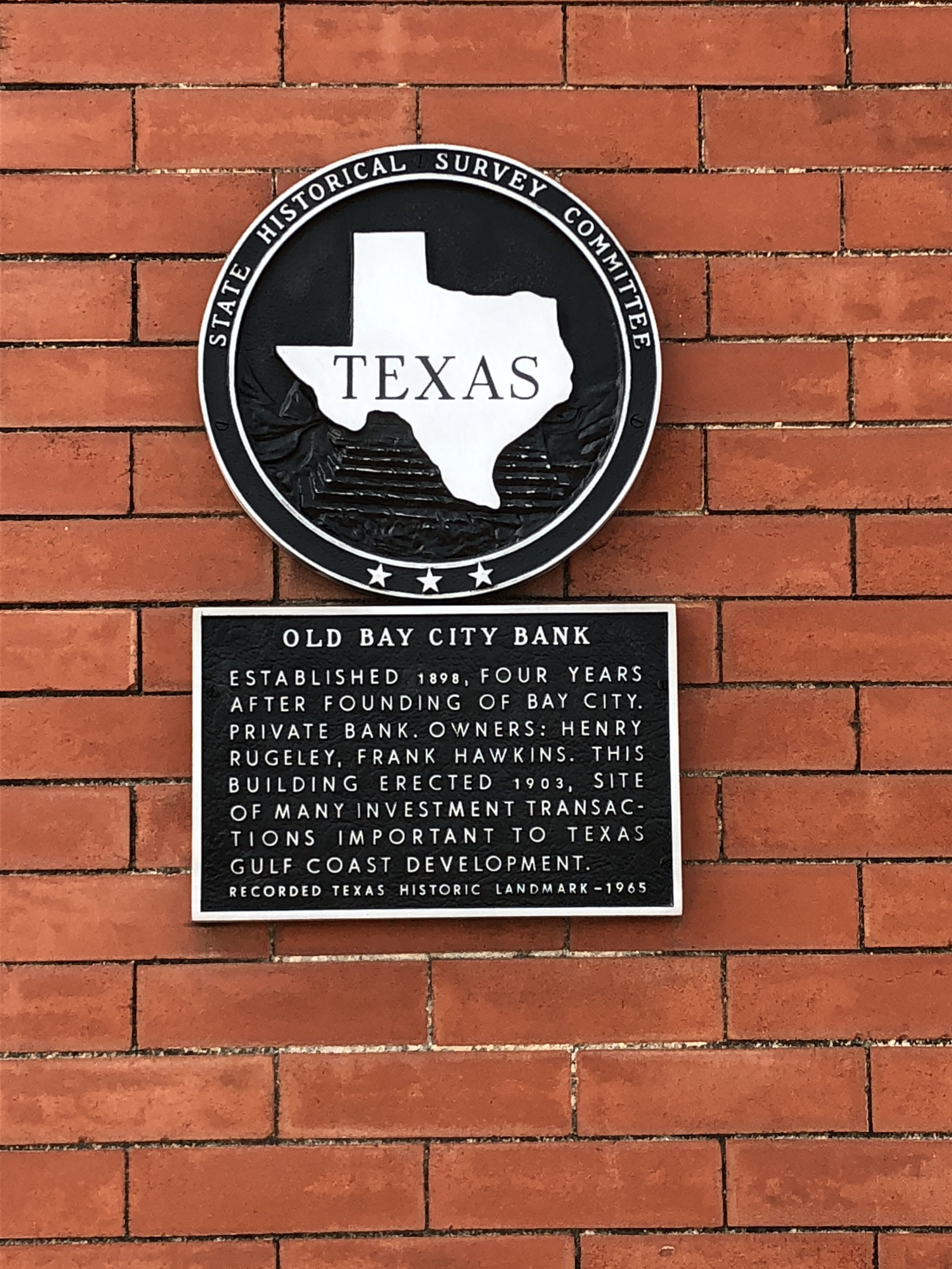 Old Bay City Bank Marker