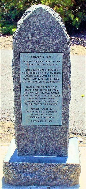 Lewis and Clark Marker (Front) image. Click for full size.