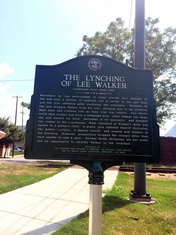 The Lynching of Lee Walker Marker image. Click for full size.