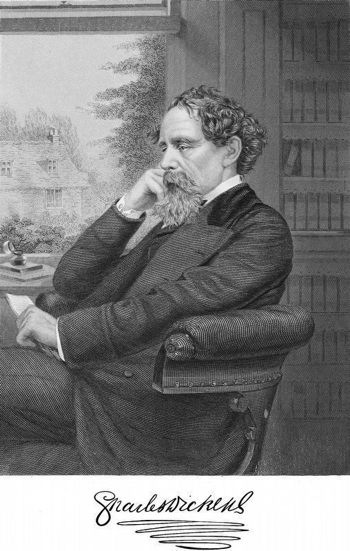 Charles Dickens<br>&#8220;Likeness from an approved photograph&#8221; image. Click for full size.