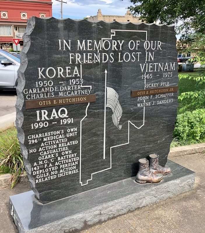 In Memory of our Friends Lost in Korea, Vietnam & Iraq Marker image. Click for full size.
