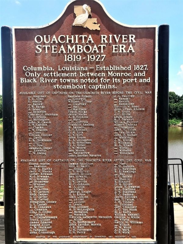Ouachita River Steamboat Era Marker image. Click for full size.