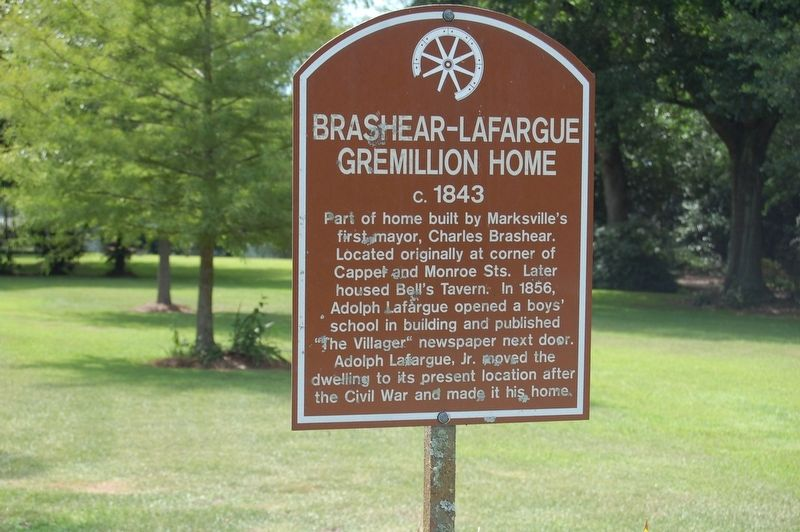 Brashear-Lafargue-Gremillion Home Marker image. Click for full size.