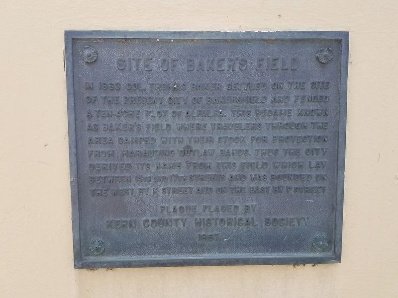 Site of Baker's Field Marker image. Click for full size.