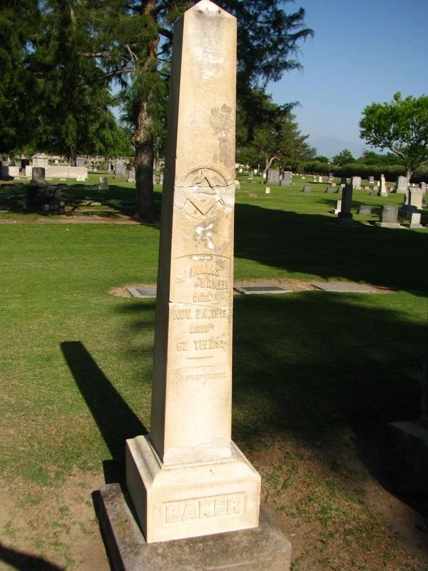 Thomas Baker's Gravesite at Union Cemetery image. Click for full size.
