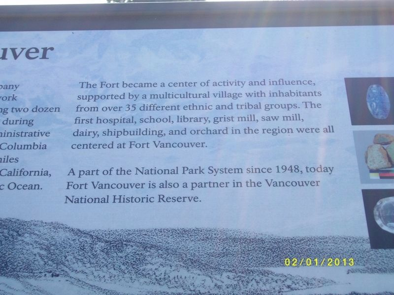 Close-up of Fort Vancouver Marker image. Click for full size.