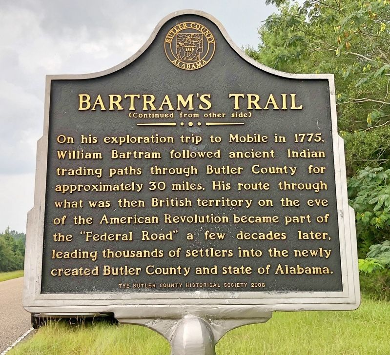 Bartram's Trail Marker (reverse) image, Touch for more information