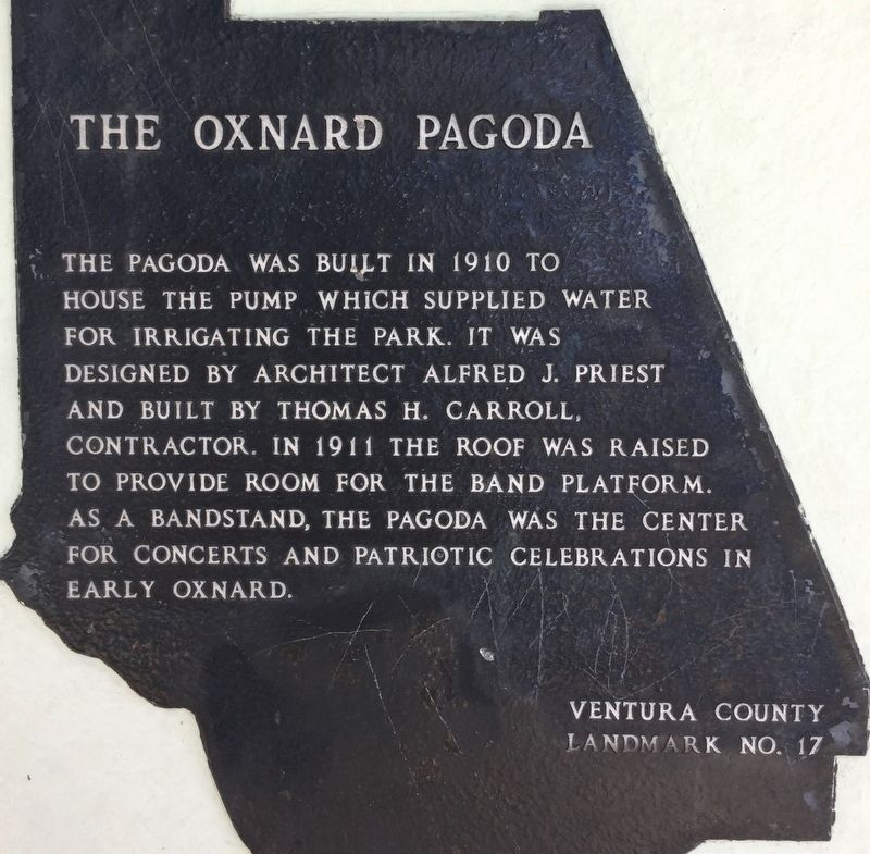 The Oxnard Pagoda Marker image. Click for full size.