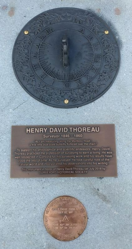 Henry David Thoreau Marker image. Click for full size.