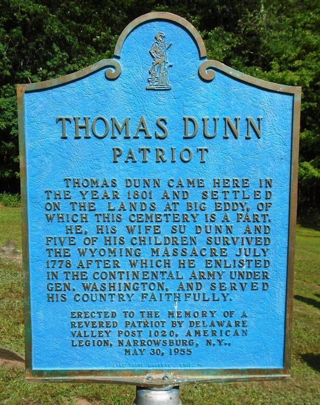 Thomas Dunn Marker image. Click for full size.