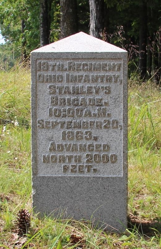 18th Ohio Infantry Marker image. Click for full size.