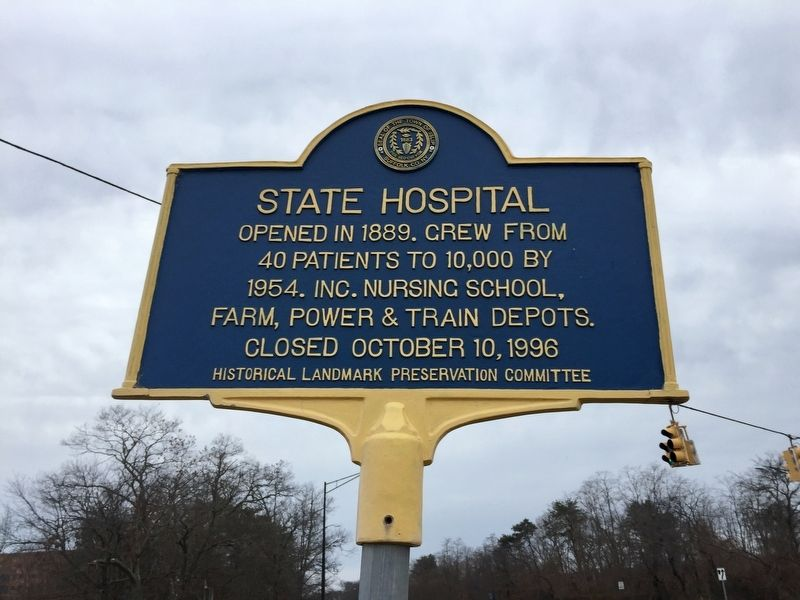 State Hospital Marker image. Click for full size.