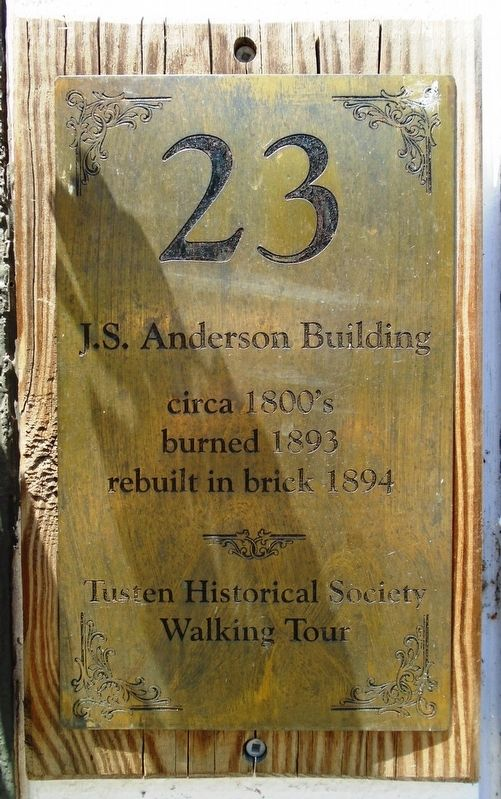 J.S. Anderson Building Marker image. Click for full size.