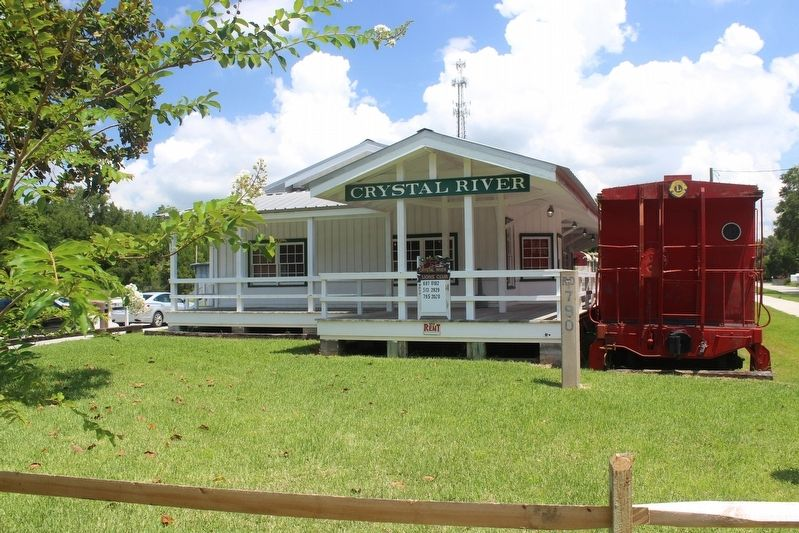 Historic Crystal River Train Depot image. Click for full size.