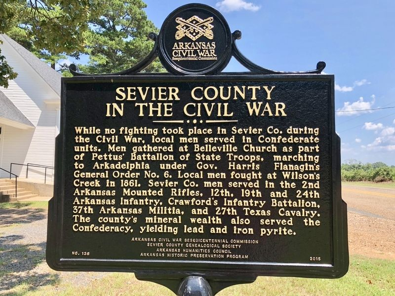 Sevier County in the Civil War Marker image. Click for full size.