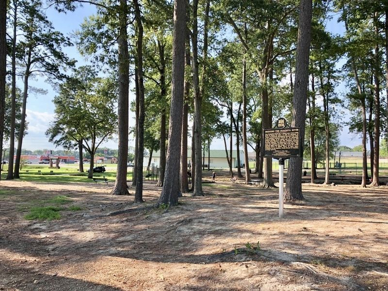 Marker at the Malvern City Park, about 4,000 feet east of the Ouachita River. image. Click for full size.