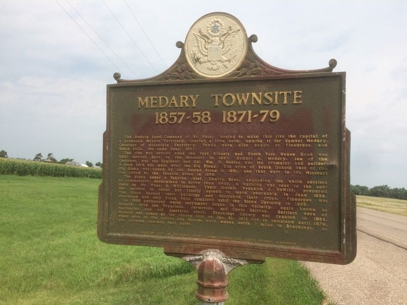 Medary Townsite Marker image. Click for full size.