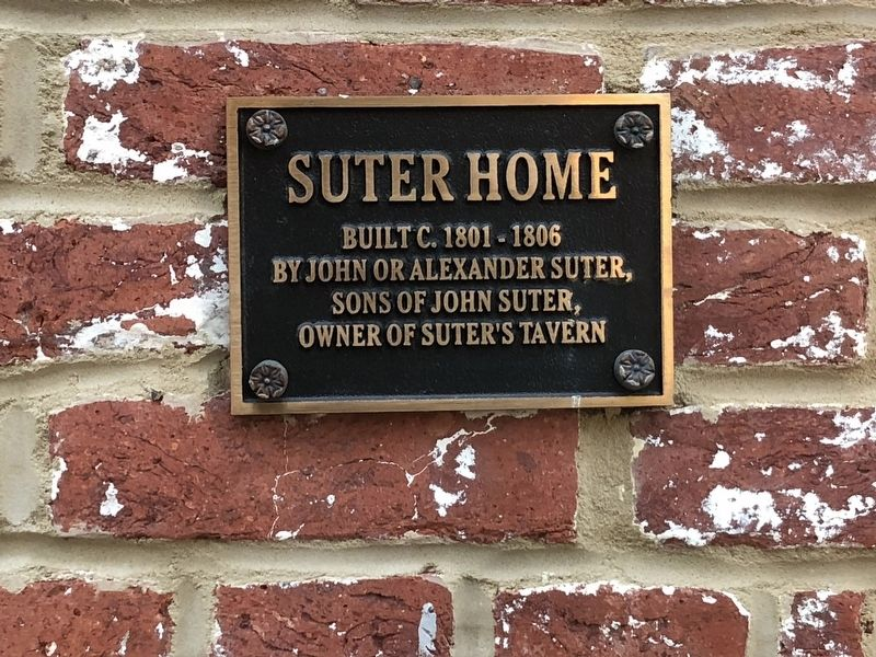 Suter Home Marker image. Click for full size.