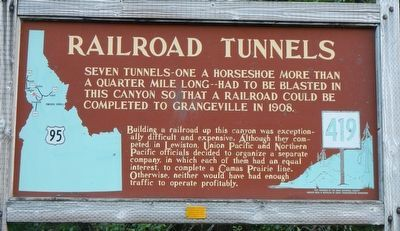Railroad Tunnels Marker image. Click for full size.